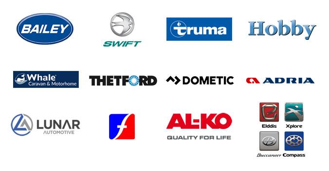 Caravan and Motorhome suppliers company-logos